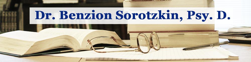 Dr. Benzion Sorotzkin, Psy. D.